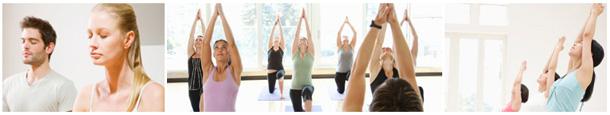 Students practising Beginners Yoga at Yoga Meditation Healing
